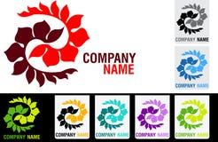 Flower logo Royalty Free Stock Photos