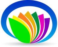 Flower logo. Illustration of flower logo design isolated on white background Royalty Free Stock Photos