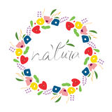 Flower logo in an abstract expressive manner. Royalty Free Stock Images