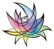 Flower Logo. A colorful rainbow flower logo for a growing company identity royalty free illustration