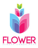 Flower Logo Concept Stock Images