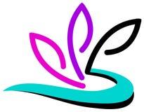 Flower logo design Stock Photography