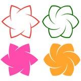 Flower logo element on white stock illustration