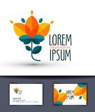 Flower. Logo, icon, emblem, template, sign Royalty Free Stock Image