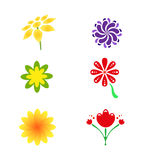 Flower logo and icon Royalty Free Stock Image