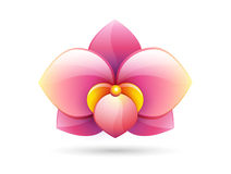 Flower logo icon vector Royalty Free Stock Photography
