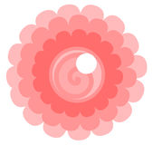 Flower Logo. Illustrated isolated flower logo royalty free illustration