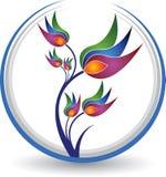 Flower logo royalty free illustration