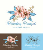 Flower Logo Shop Royalty Free Stock Photos