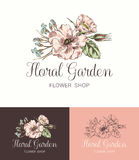 Flower Logo Shop Royalty Free Stock Images