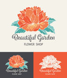 Flower Logo Shop Stock Images