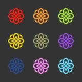 Flower logo. Vector sign emblem Stock Photo