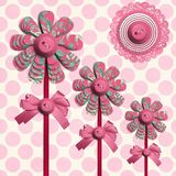 Flower Lolly over Polka Dots Stock Images