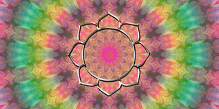 Flower lotus  mandala good vibes Royalty Free Stock Images