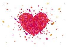 Flower love. Flower of love in the heart Stock Photography
