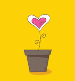 Flower of love stock illustration