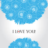 Flower love card. Flower stripe invitation love card Royalty Free Stock Image