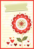 Flower with love pattern Stock Photo