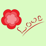 Flower-and-Love picture Royalty Free Stock Photography