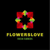 Flower love quality flat trend brand icon vector Stock Photography