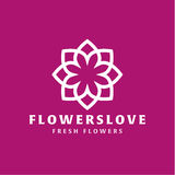 Flower love quality flat trend brand icon vector Royalty Free Stock Image