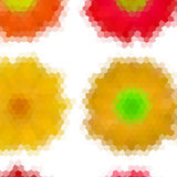 Flower low poly hexagon style vector mosaic Royalty Free Stock Photo