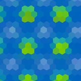 Flower low poly hexagon style vector mosaic Stock Photo