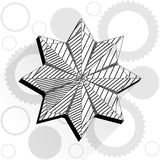 Flower in low poly style. With gears Royalty Free Stock Photo