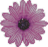 Flower made from circles vector illustration