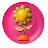 Flower made of citrus fruits Royalty Free Stock Photography
