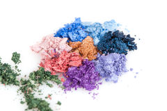 Flower made of crumbled makeup eyeshadows Stock Photography