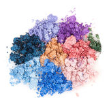Flower made of crumbled makeup eyeshadows Stock Images