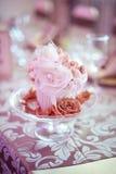 Flower made of fabric Stock Photos