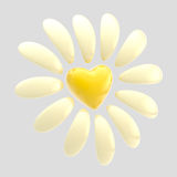 Flower made of heart and petals  Stock Photo