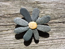 Flower made from natural stones Stock Photos