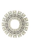 Flower made of one hundred dollar bills isolated Stock Photography