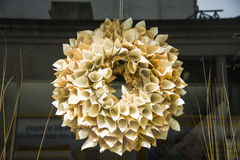 Flower made by paper in Buenos Aires, Argentina Stock Image