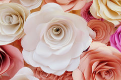 Flower made from paper Royalty Free Stock Image