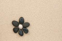 Flower made with stones Royalty Free Stock Images