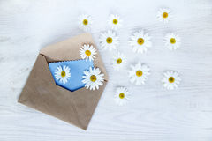 Flower mail Royalty Free Stock Image