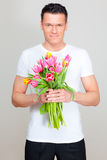 Flower man Stock Images