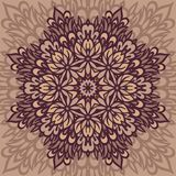 Flower Mandala. Abstract background. Abstract Flower Mandala. Decorative background. Vector illustration Royalty Free Stock Image