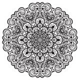 Flower Mandala. Abstract element for design Stock Images