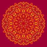 Flower Mandala. Abstract element for design Royalty Free Stock Images