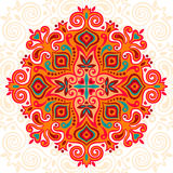 Flower Mandala. Abstract element for design Royalty Free Stock Image