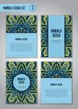 Flower mandala design set. Vintage decorative elements. Royalty Free Stock Photography