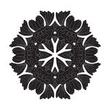 Flower Mandala Doodle Vector Designs Stock Photos
