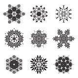 Flower Mandala Doodle Vector Designs Royalty Free Stock Photography