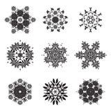 Flower Mandala Doodle Vector Designs Royalty Free Stock Photography