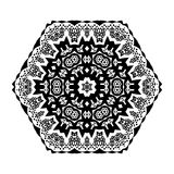 Flower Mandala Doodle Vector Designs Royalty Free Stock Images